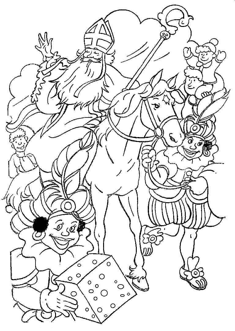 Leuke Kleurplaten Van Sinterklaas.Sinterklaas Kleurplaten Sinterklaasradio Nl