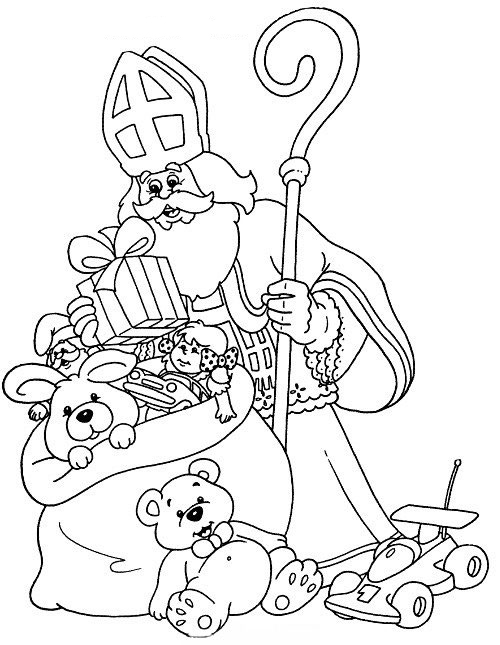Grote Kleurplaten Sint En Piet.Sinterklaas Kleurplaten Sinterklaasradio Nl